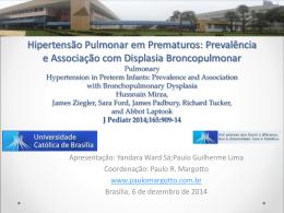 Hipertensão pulmonar em prematuros