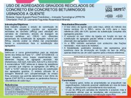 USO DE AGREGADOS GRAÚDOS RECICLADOS DE