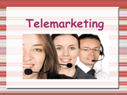 Telemarketing - prof-nair