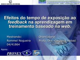 Rommel Nogueira - 2006 - Defesa de dissertação