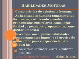 AS HABILIDADES MOTORAS FUNDAMENTAIS