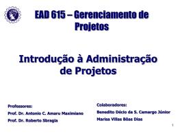 Introdução à Administração de Projetos