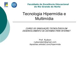 Tecnologia Hipermídia e Multimídia - Apostilas