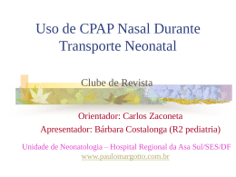 Uso de CPAP nasal durante transporte neonatal