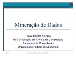 Apresentação - Sandra de Amo - Universidade Federal de Uberlândia