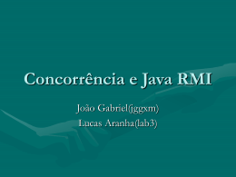 Concorrencia e Java RMI