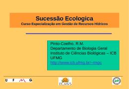 Sucessão Ecológica - Ecologia e Gestão Ambiental