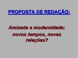 proposta de redação – amizade