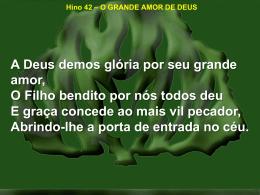 42-o grande amor de deus