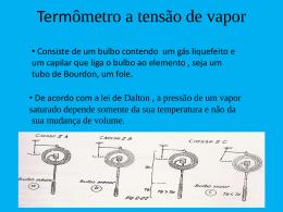 Termômetro a tensão de vapor
