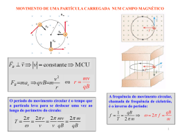 Força magnética (continuação)