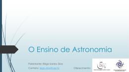 O Ensino de Astronomia