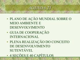 AGENDA 21 - Universidade Castelo Branco