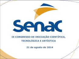 ix congresso de iniciação científica, tecnológica e artística