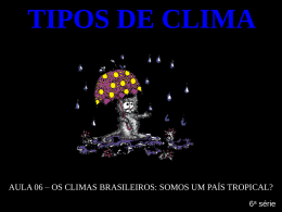 clima tropical - Portal Educacional