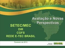 Slide 1 - Rede e-Tec