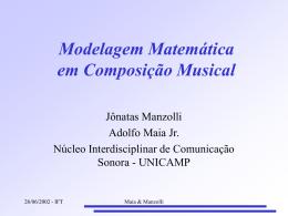 Modelagem Matemática em Composição Musical