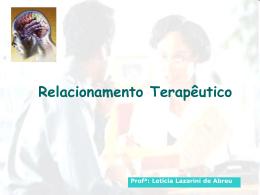 Relacionamento Terapêutico - Universidade Castelo Branco