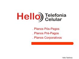 Planos telefônicos da Hello