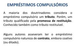 PP – Emprestimos compulsorios