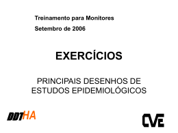 exercícios - principais desenhos de estudos epidemiológicos