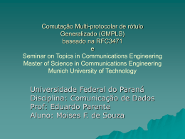 GMPLS - Universidade Federal do Paraná