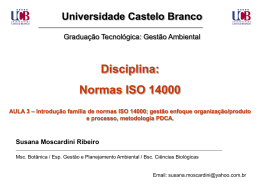Introdução família de normas ISO 14000