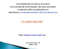 Classes sociais e ideologia slides