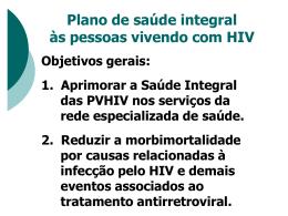 plano de saúde integral às pessoas vivendo com hiv