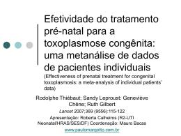 Efetividade do tratamento pré-natal para a toxoplasmose congênita