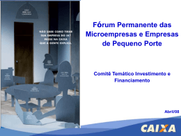 Comitê Investimento e Financiamento