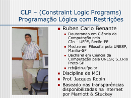 CLP – Constraint Logic Program