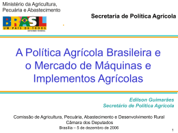 Crédito Rural e Mecanização no Brasil Evolução Recente e