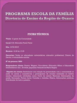 Relatório - Paulo Freire