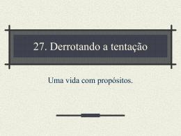 27. Derrotando a tentação