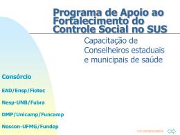 Programa de Apoio ao Fortalecimento do Controle Social