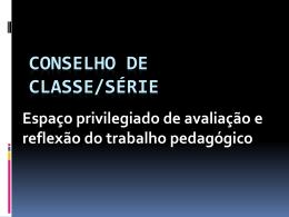 Conselho de Classe apresentação