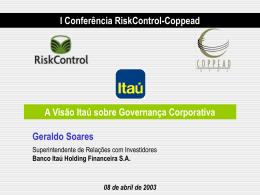 Política de Ri do Banco Itaú