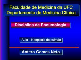 Manifestações clínicas Câncer de Pulmão Câncer de Pulmão