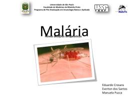 malaria_parte_1 - Pós-Graduação em Imunologia Básica e