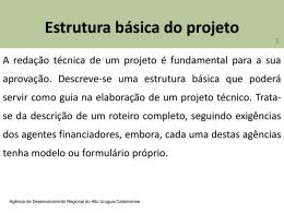 Estrutura básica do projeto