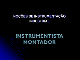 INSTRUMENTISTA MONTADOR