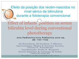 Efeito da posição dos recém-nascidos no nível sérico de bilirrubina