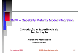 CMMI – Capability Maturity Model Integrated