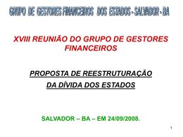 grupo de gestores financeiros dos estados - salvador - ba