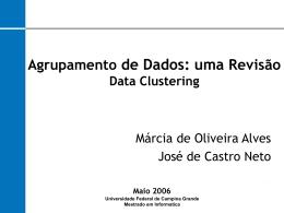 DataClustering - Universidade Federal de Campina Grande