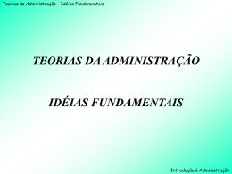 Aula 2 Iep - 1ª parte Teorias da Administração PB