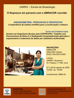 O Nuprecon em parceria com a ABRACOR convida: INSCRIÇÕES