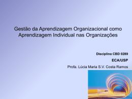 Organizações Qualificantes e Aprendizagem