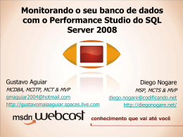 Webcast – Performance Studio - Junior Galvão - MVP
